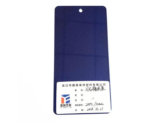 Candy bright blue powder coating