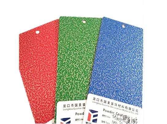 Customization of electrostatic spray powder