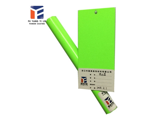 Fluorescent green powder coating