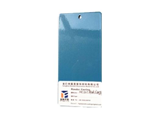 Pearl gentian blue powder coating