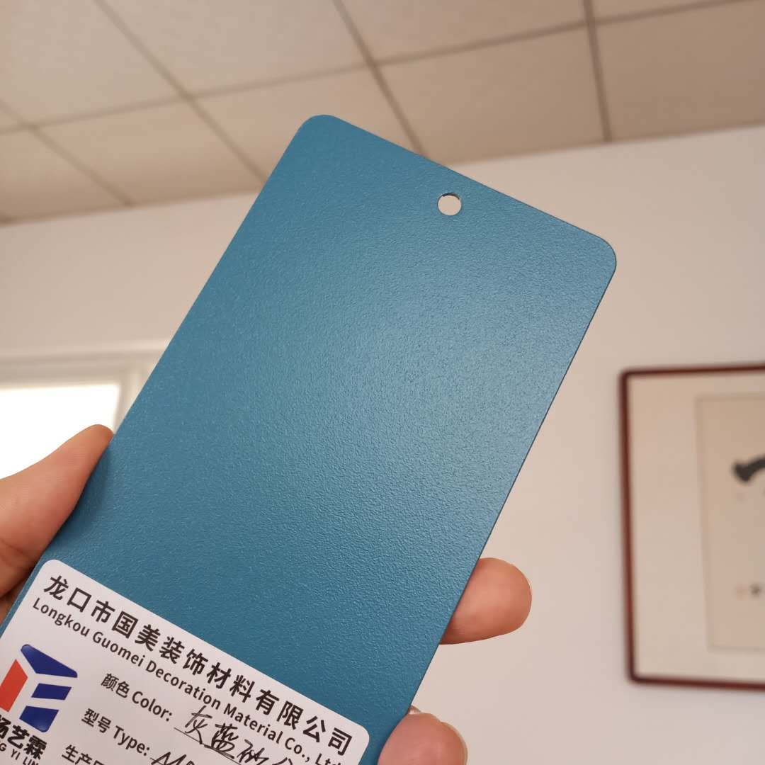 Gray blue sand pattern indoor electrostatic spraying plastic powder thermosetting electrostatic powder manufacturer